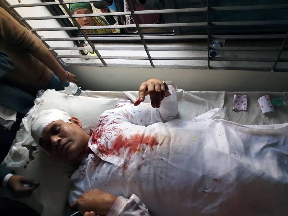 গোসাইরহাট সন্ত্রাসী হামলায় বিএনপির প্রার্থী মিয়া নুরুদ্দিন অপু আহত
