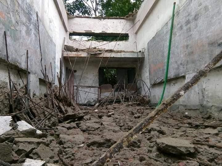 ডামুড্যা ক্লাস চলাকালীন প্রাথমিক বিদ্যালয়ের ছাদ ধ্বসে পড়ল