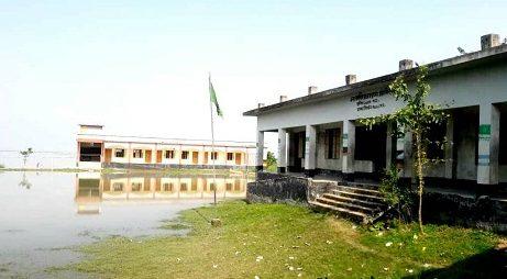 জাজিরায় পদ্মা নদীর ভাঙনের মুখে পড়েছে দু'টি বিদ্যালয়